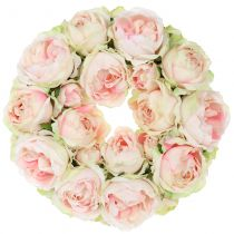 Rosary crème / rosa Ø30cm