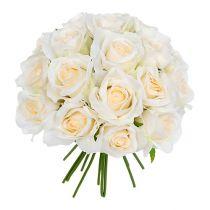 Rosebukett hvit Ø26cm