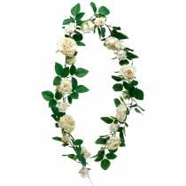 Romantisk rosekrans, silkeblomst, kunstig rosenrør 160cm