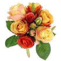 Bukett med roser oransje Ø17cm L25cm