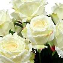 Rosebukett hvit, krem 55cm