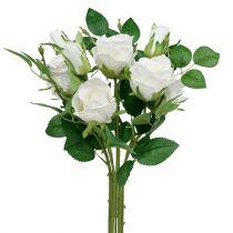 Bukett med roser hvit L46cm