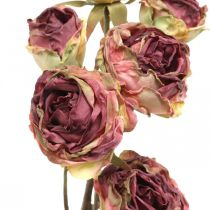 Kunstig rose, borddekorasjon, kunstig blomstrosa, antikk rosegren L53cm