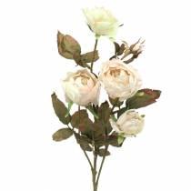 Kunstig rose gren kremhvit 76cm