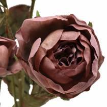 Kunstig rosegren fiolett 76cm
