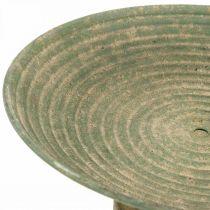 Bolle med fot, pynteskål, metallkar, antikt utseende, Ø26cm H12cm