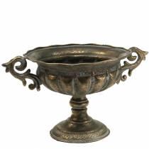 Koppskål antikk gull Ø28cm H23cm