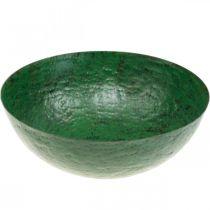 Dekorativ bolle vintage grønn metallplanterbolle Ø31cm