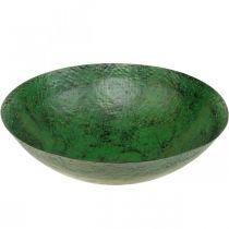Dekorativ bolle stor metallgrønn vintage borddekorasjon Ø42cm