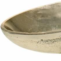 Oval bolle med gylden fot 20,5 × 8 cm