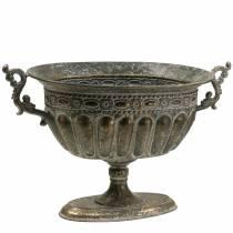 Koppskål antikk gull oval 42cm H28cm