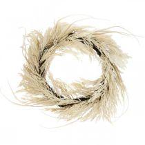 Dekorativ kranspampas gress og siv kunstig krem 70cm