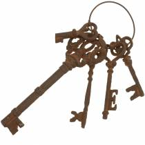 Nøkkelring støpejernsrist 36cm 5 deler