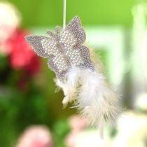 Følte sommerfugl for å henge krem bryllupsdekorasjon 16cm