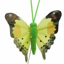 Dekorativ sommerfugl med tråd assortert 5cm 24stk