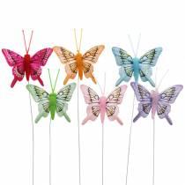 Dekorativ sommerfugl med ledning 5cm 24stk