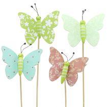 Blomstertupp sommerfugl tre 18cm 12stk
