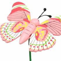 Flower stud sommerfugl tre assortert 7,5 cm 16 stk