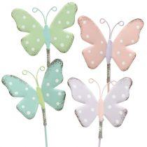 Blomsterknapper sommerfuglpastell 24cm 12stk