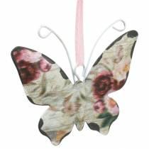 Sommerfugl å henge metall dekorasjon henger 7cm vår dekorasjon 12stk