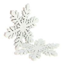 Snøfnugg av tre hvite Ø3,7cm 48stk