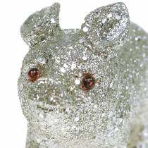 Dekorativt grisglitter sølv 10cm 8stk
