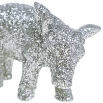 Deco gris nyttårsaften deco sølvglitter 3,5cm 2stk