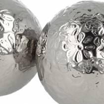 Flytende ballblomster sølvmetall Ø5,5cm assortert 6stk
