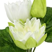 Vannliljer kunstig hvit 35cm