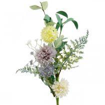 Silkeblomster i en haug, sommerdekorasjoner, krysantemum og sfæriske tistler, kunstige blomster L50cm