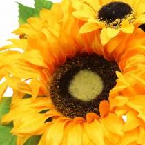 Dekorativ bukett med solsikker gjeng gul 30cm