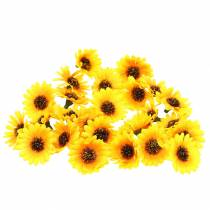 Spredte solsikkehoder gule Ø3,3cm 100p