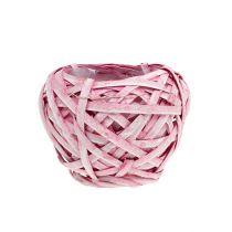 Fliskurv rund Ø15cm H14cm rosa