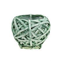 Fliskurv rund grønn Ø15cm H14cm