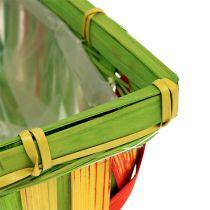 Fliskurvsett, firkantet, flerfarget 12stk 20cm x 11cm