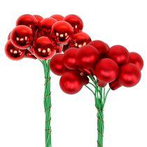 Speilbær rød matt, blank Ø1,5cm 140p