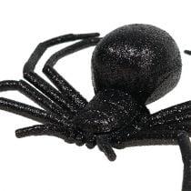 Edderkopp svart 16cm med glimmer