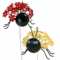 Hageplugg blomst marihøne rød, gul assortert 2stk