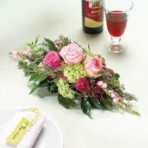 Blomsterskum 1/2 murstein Garnette 36 8stk