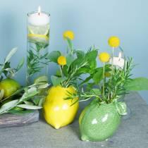 Fajanse vase lime grønn 10cm