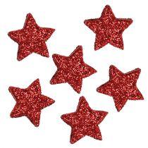 Stjerneglitter 1,5 cm for å strø rødt 144 stk