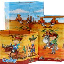 Pennholder sett med cowboymotiv H 6-12cm