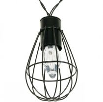 LED solenergi lys hage dekorasjon svart 350cm 8LED