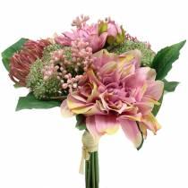 Blomsterbukett dahlia, protea 25cm