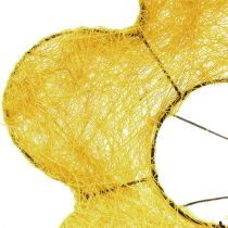 Sisal mansjett gul Ø20cm blomstermanchet 8stk