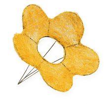 Sisal blomstermansjett gul Ø25cm 6stk