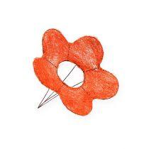 Sisal blomstermansjer oransje Ø15cm 10stk