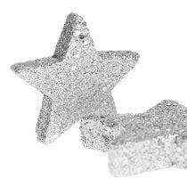 Stjerner for å spre sølv sort. 4-5cm 40stk