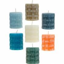 Pillelys Rustikk 80/65 lys forskjellige farger 2stk