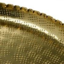 Dekorativ brett, metallplate orientalsk, borddekorasjon Ø25cm